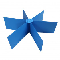 Blue Premium Round Study Carrel, Pack of 6 - FLP618206 | Flipside | Wall Screens