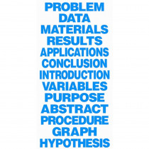 FLP62030 - Science Fair Title Cards Neon Blue in Science Fair