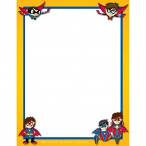 FLPSH002 - Superhero Border Paper in Design Paper/computer Paper