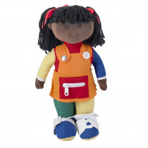 FPH858 - Learn To Dress Doll Black Girl in Dolls