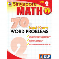 FS-014012 - Singapore Math Level 2 Gr 3 70 Must Know Word Problems in Activity Books