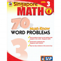 FS-014013 - Singapore Math Level 3 Gr 4 70 Must Know Word Problems in Activity Books