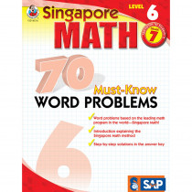 FS-014016 - Singapore Math Level 6 Gr 7 70 Must Know Word Problems in Activity Books