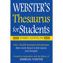 FSP9781596950948 - Websters Thesaurus For Students in Reference Books