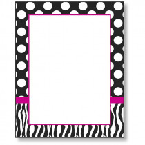 FST4684 - Zebra Dot Chart in Classroom Theme