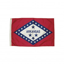 FZ-2032051 - 3X5 Nylon Arkansas Flag Heading & Grommets in Flags