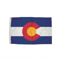 FZ-2052051 - 3X5 Nylon Colorado Flag Heading & Grommets in Flags