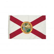 FZ-2082051 - 3X5 Nylon Florida Flag Heading & Grommets in Flags