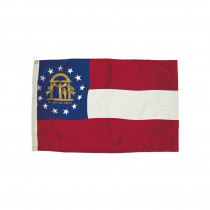 FZ-2092051 - 3X5 Nylon Georgia Flag Heading & Grommets in Flags