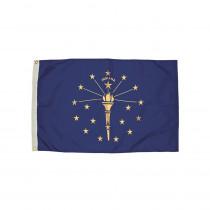 FZ-2132051 - 3X5 Nylon Indiana Flag Heading & Grommets in Flags