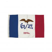 FZ-2142051 - 3X5 Nylon Iowa Flag Heading & Grommets in Flags