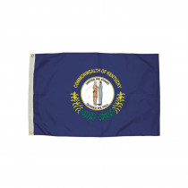 FZ-2162051 - 3X5 Nylon Kentucky Flag Heading & Grommets in Flags