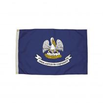 FZ-2172051 - 3X5 Nylon Louisiana Flag Heading & Grommets in Flags