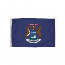 FZ-2212051 - 3X5 Nylon Michigan Flag Heading & Grommets in Flags