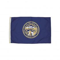 FZ-2262051 - 3X5 Nylon Nebraska Flag Heading & Grommets in Flags