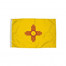 FZ-2302051 - 3X5 Nylon New Mexico Flag Heading & Grommets in Flags