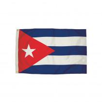 FZ-3482051 - 3X5 Nylon Cuba Flag Heading & Grommets in Flags