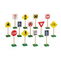GD-309 - Traffic Signs 7In 13/Pk in Pretend & Play