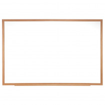 GH-M2W231 - Melamine Markerboard 2X3 W/ Wood Frame in White Boards