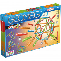GMW354 - Geomag Confetti Set 127 Pieces in Accents