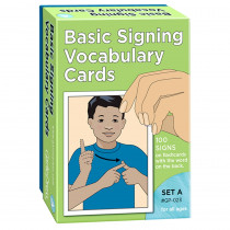 GP-023 - Basic Signing Vocab Cards Set A 100/Pk 4 X 6 in Sign Language