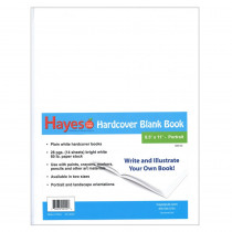 H-BK100 - Plain White Blank Book 8.5W X 11H Hardcover 28 Pages 14 Sheets in Note Books & Pads