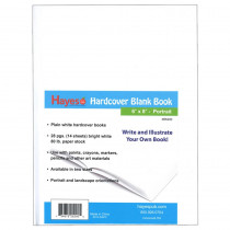 H-BK200 - Plain White Blank Book 6W X 8H Hardcover 28 Pages 14 Sheets in Note Books & Pads