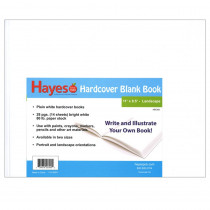 H-BK300 - Plain White Blank Book 11W X 8.5H Hardcover 28 Pages 14 Sheets in Note Books & Pads