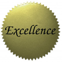 H-VA314 - Stickers Gold Excellence 50/Pk 2 Diameter in Awards