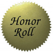 H-VA317 - Stickers Gold Honor Roll 50/Pk 2 Diameter in Awards