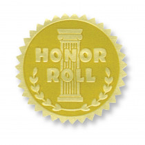 H-VA370 - Gold Foil Embossed Seals Honor Roll in Awards