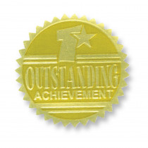 H-VA371 - Gold Foil Embossed Seals Outstanding Achievement in Awards