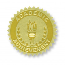 H-VA372 - Gold Foil Embossed Seals Academic Achievement in Awards