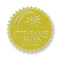 H-VA375 - Gold Foil Embossed Seals Attendance Award in Awards