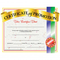 H-VA509 - Certificates Of Promotion 30/Pk 8.5 X 11 in Certificates