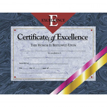 H-VA521 - Certificates Of Excellence 30 Pk 8.5 X 11 in Certificates