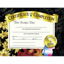 H-VA524 - Certificates Of Completion 30 Pk 8.5 X 11 in Certificates