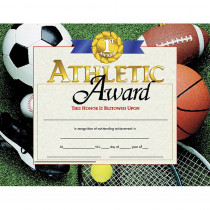 H-VA526 - Certificates Athletic Award 30 Pk 8.5 X 11 in Physical Fitness