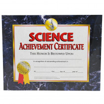 H-VA571 - Science Achievement 30/Pk 8.5 X 11 Certificates in Science