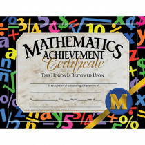 H-VA581 - Certificates Mathematics 30/Pk Achievement 8.5 X 11 in Math