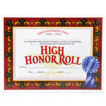 H-VA586 - High Honor Roll Award 30/Pk 8.5X11 Certificates in Certificates