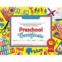 H-VA605 - Preschool Certificate 30Pk Yellow Background in Certificates