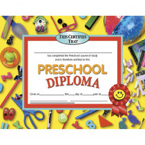 H-VA606 - Diplomas Preschool 30/Pk 8.5 X 11 Red Ribbon in Certificates