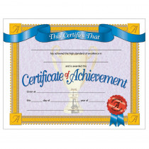 H-VA608 - Certificates Of Achievement 30/Pk 8.5 X 11 Inkjet Laser in Certificates