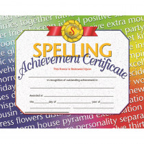 H-VA676 - Spelling Achievement 30/Pk 8.5X11 Certificates Inkjet Laser in Language Arts