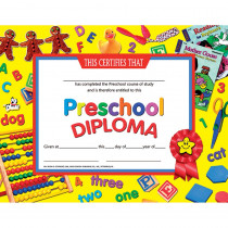 H-VA706 - Certificates Preschool Diploma 30Pk in Certificates