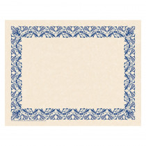 H-VA915 - Art Deco Border Paper Blue in Design Paper/computer Paper