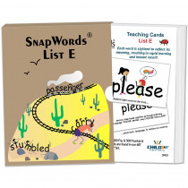 HB-SWE1 - Snapwords Teaching Cards List E in General