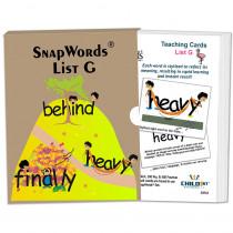 HB-SWG1 - Snapwords Teaching Cards List G in General