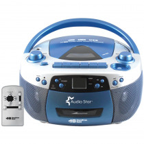 HEC5050ULTRA - Hamilton Buhl Audiostar Boombox Radio Cd Usb Cass Mp3 Converter in Listening Devices